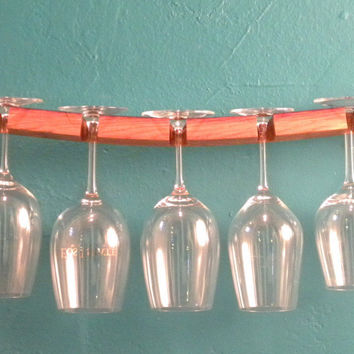 reclaimed wood wine glass rack by SwedishGuyDesign on Etsy