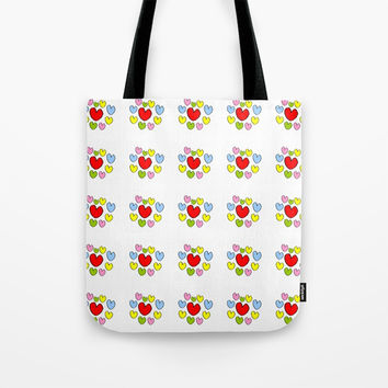 heart 3-heart,love,romantism,girl,sweet, women,romantic,cute,beauty,multicolor Tote Bag by oldking