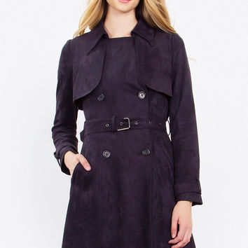 Glenna Suede Trench Coat