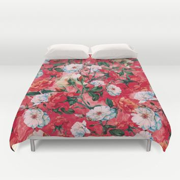 Rose Red Duvet Cover by RIZA PEKER