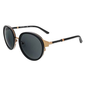Tory Burch TY6042Q 310687 Rose Gold/Black Round Sunglasses | Overstock.com Shopping - The Best Deals on Fashion Sunglasses