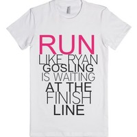 Ryan Gosling Work Out Tank-Female White T-Shirt