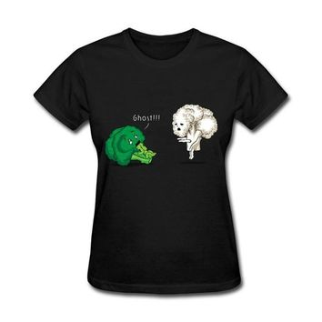 Tops and Tees T-Shirt Girl  A Vegan Horror Story T Shirt Women Casual Short Sleeve 100% Cotton T Shirt Woman's Clothing  Tee For Women AT_60_4 AT_60_4