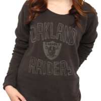 NFL Oakland Raiders Vintage Off the Shoulder Fleece - Women's Collections - NFL - Oakland Raiders - Junk Food Clothing