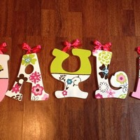 COCALO TAFFY INSPIRED HAND PAINTED WOOD WALL LETTERS