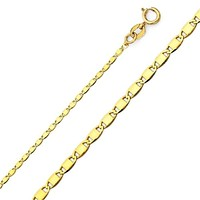 Valentino Flat 3mm 18Kts Gold Plated Chain