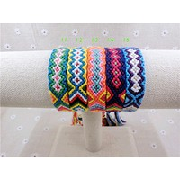 Handmade Charm Woven Rope String Hippy Boho Embroidery Cotton Friendship Bracelets
