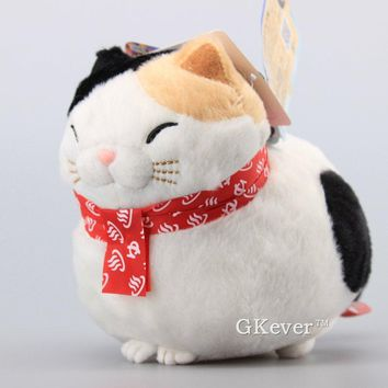 "High Quality Anime Hige Manjyu Maekake Cat Soft Stuffed Animals Cute Mi-sama Plush Toy Dolls 7"" 18 CM X'mas Gift"