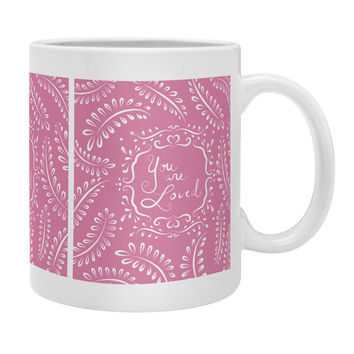 Lisa Argyropoulos You Are Loved Blush Coffee Mug