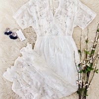 Gold Coast Lace Maxi in White