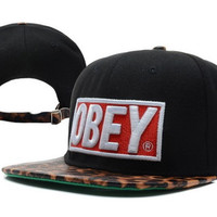 Obey Black Cheetah Snapback