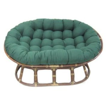"Blazing Needles Solid Twill Double Papasan Chair Cushion, 58"" x 6"" x 78"", Sage"