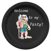 Welcome To My Party - Scandinavian Ogre Paper Plate