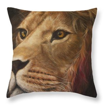 "Kindness Lion Throw Pillow for Sale by Kathleen Wong - 20"" x 20"""