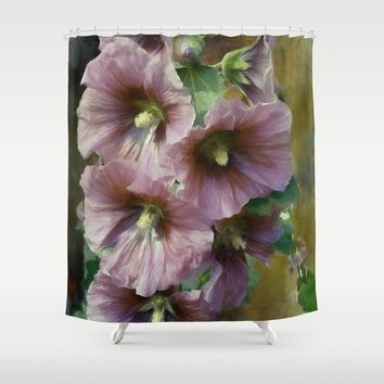 What A Holly Day Shower Curtain by Theresa Campbell D'August Art