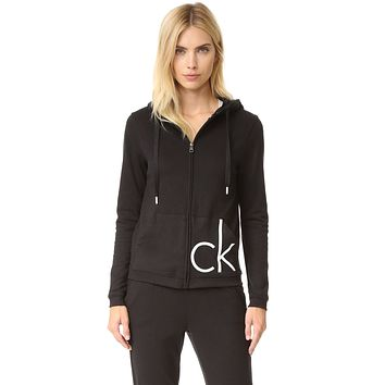 """Calvin Klein"" Fashion Women Zip Cardigan Jacket Coat"
