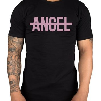 Beyonce Angel Logo Unisex T-Shirt Beyo Jay Z Kanye Mrs Carter Flawless OTR New Fashion Men T Shirt Printed Pure Cotton Men'S