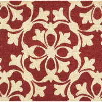Waverly Greetings Courtyard Coral Doormat by Nourison