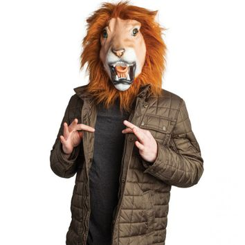 Lenny The Lion Realistic Lion Mask With Furry Mane