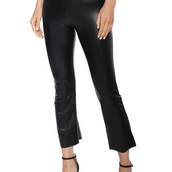 Commando Faux Leather Cropped Flare