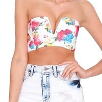 Flower Magic Bustier Top - Floral Print