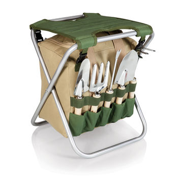 Gardener-Seat With 5Pc Garden Tool Kit