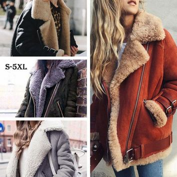 Trendy Winter Jacket HEE GRAND Winter s Women Loose Flocking Warm Thick Coat Women Casual Suede Woman Parkas Velvet Cotton Outerwears WWJ930 AT_92_12