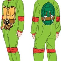 TMNT Teenage Mutant Ninja Turtles Raphael Men's Green Union Suit