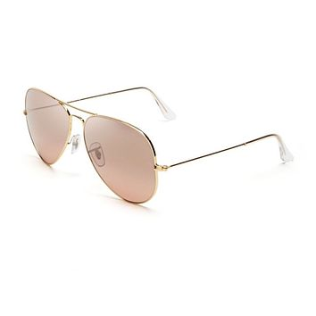 Cheap Ray-Ban RB 3025 001/3E 62mm Aviator Sunglasses Gold / Brown Pink Mirror Lens outlet