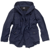 Cotton Gabardine Ring Coat Dark Navy