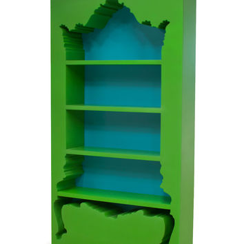 POLaRT InsideOut Bookcase - Green Outer With Blue Inner Finish