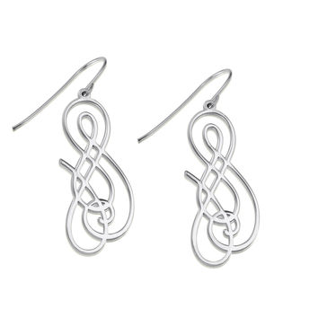 Infinity Earrings - 925 sterling silver earrings
