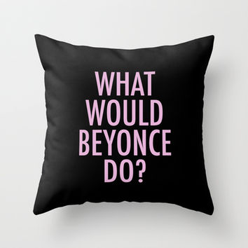 béyonce Throw Pillow by Trend | Society6