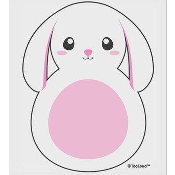 "TooLoud Cute Bunny with Floppy Ears - Pink 9 x 10.5"" Rectangular Static Wall Cling"