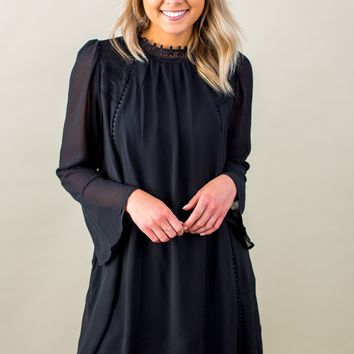 Pass On By Dress-Black