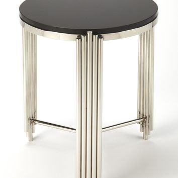 Khalifa Black Granite End Table