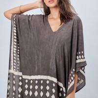 Andi Tie Dye Brown Light Weight Poncho