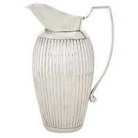 Dessau Home Nickel Ribbed Pitcher - St324