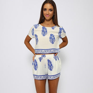 Two piece floral print