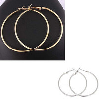 Women Earrings Charming New Series New Round Big Large Hoop Huggie Loop