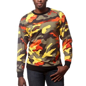 Artistix - Camo Print Long Sleeve T - Green