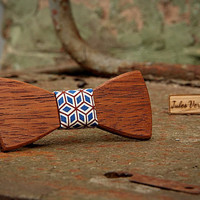 FREE SHIPPING till 15th October!! Handcrafted Wooden Bow tie . Merbau Madagascar wood .Handicraft unique men accessory.Manly gift. #JVbowtie