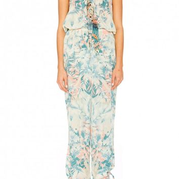 CAMILLA - GARDEN OF DREAMS TIE FRONT JUMPSUIT - Jumpsuits - Shop
