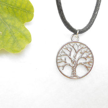 Silver Tree Of Life Necklace - Yggdrasil Necklaces - Silver Tree Necklace - Viking Mens Jewelry - Fathers Day Gift - Mens Jewellery