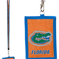 NCAA University of Florida Gators Lanyard with Nylon Wallet