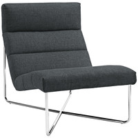 Reach Lounge Chair Gray Fabric