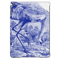 Vintage Bird Drawing | Blue | Whooping Crane Case For iPad Air