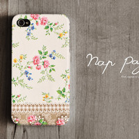 Apple iphone case for iphone iphone 4 iphone 4s iphone 3Gs : Vintage flower pattern