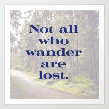 Time to Wander Art Print by aeontextiles