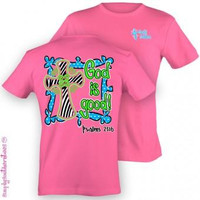 Simply Southern Funny Psalm 236 Cross Sweet Girlie Bright T Shirt